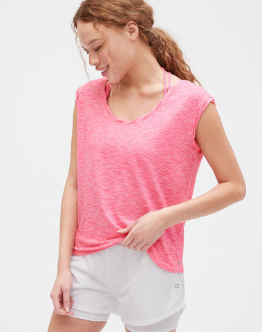 Gapfit Breathe T-Shirt with Twist Detail
