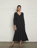 Gauze Cecelia Dress - Black