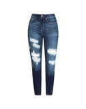 GEMMA MID RISE DISTRESSED SUPER SKINNY