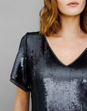 GENEVA SEQUIN SHIFT DRESS