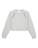 Gray Sweatshirt With Opening And Pins