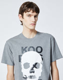 Gray T-shirt In Cotton With Skull Motif