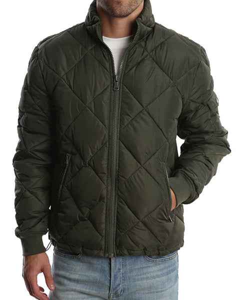 Green Quilted Puffer Jacket