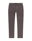 Grey Straight Fit Stretch Twill Pant