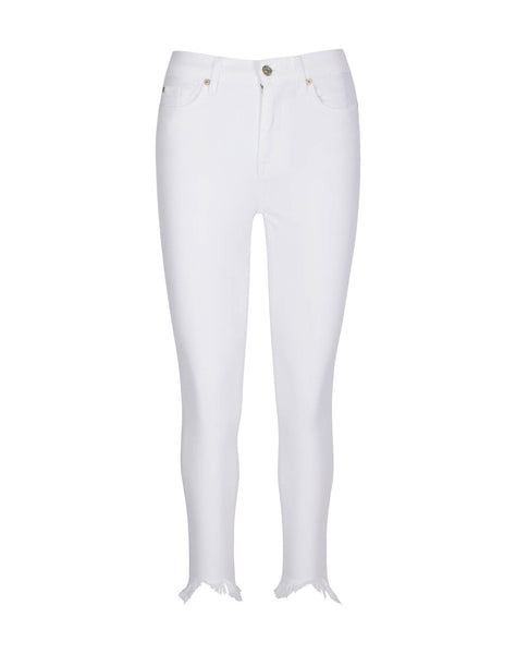 Gwenevere High Waist Ankle Skinny in White