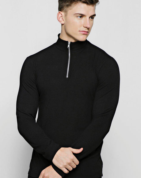 Half Zip Funnel Neck Sweater