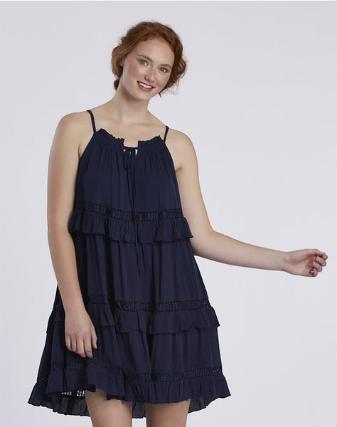 Halter Neck Frill Dress
