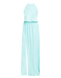 Heather Halter Dress ~ Sea Glass Crisp