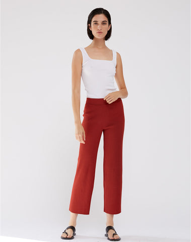 Heavy Ribbed Culotte Pant