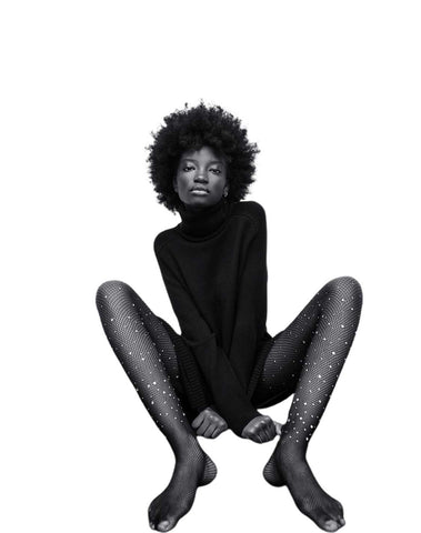 High Collar Knit Dress