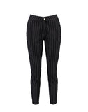 High Rise Stripe Skinny Tube Jeans