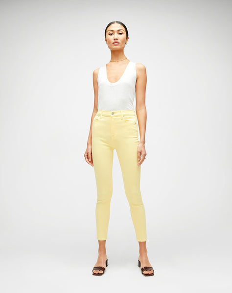 High Waist Ankle Skinny in Yellow