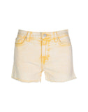 High Waist Short in Mineral Yellow