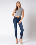 Holly- Tessa - Dark Washed Skinnies