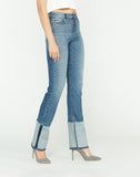 Holly High-Rise Straight Cuffed Hem Jean