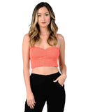 HONEY SMOCKED SYNCHED FRONT TOP | CORAL