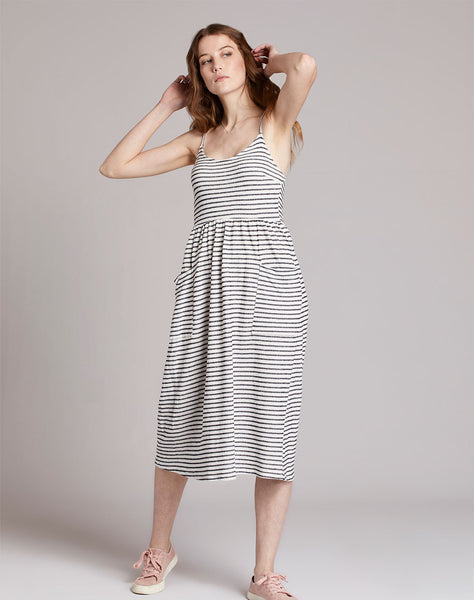 Horizontal Stripes Midi Dress