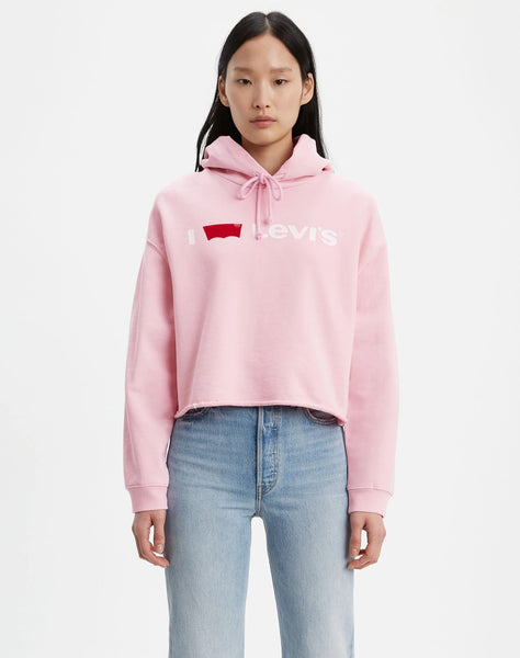 I Heart Levi's® Raw Cut Hoodie Pink Lady I Heart Levi's