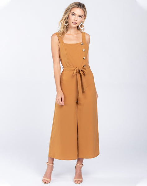 In The Know Solid Woven Jumpsuit