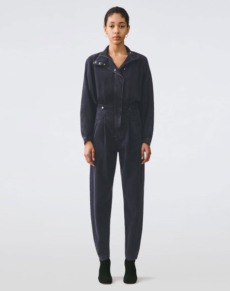 Ina High Collar Zip Jumpsuit in Outcast