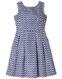 Jacquard Fit And Flare Dress