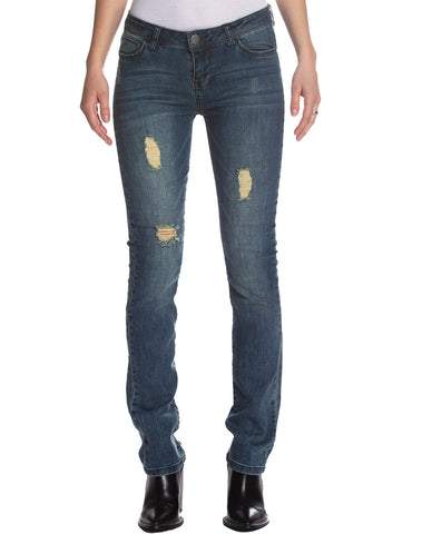 Jeggings Denim With Rips Straight