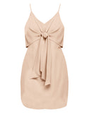 Jocelynn Mini Flare Tied Front Dress