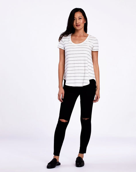 Journey Striped Knit Tee