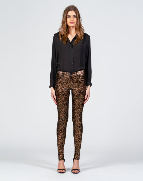 Jude Mid Rise Super Skinny With All Over Foil - Wild Thoughts