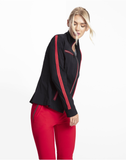 Justine Side-Stripe Racer Jacket