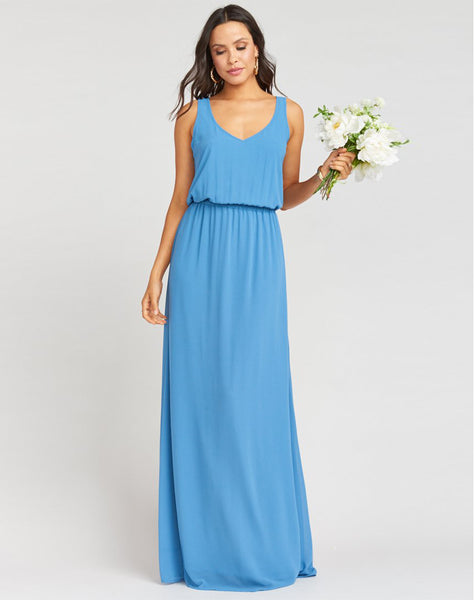 Kendall Maxi Dress ~ Coastal Blue Chiffon