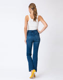 Leila High Rise Side Button Bootcut