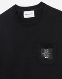 Label Black Cotton T-shirt