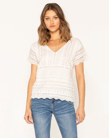 Lace Lover Short Sleeve Top