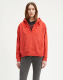 Lace Up Hoodie Pomegranate - Red