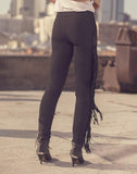 Lana Fringe Leather Leggings