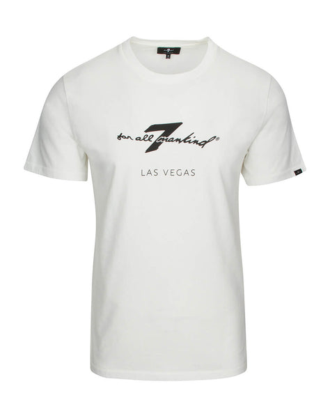 Las Vegas Crew Neck Graphic Tee in White