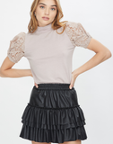 Lauryn Vegan Leather Skirt