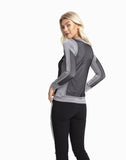 Laylin Jersey & Mesh Long-sleeve Top