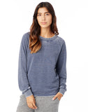 Lazy Day Burnout French Terry Pullover Sweatshirt