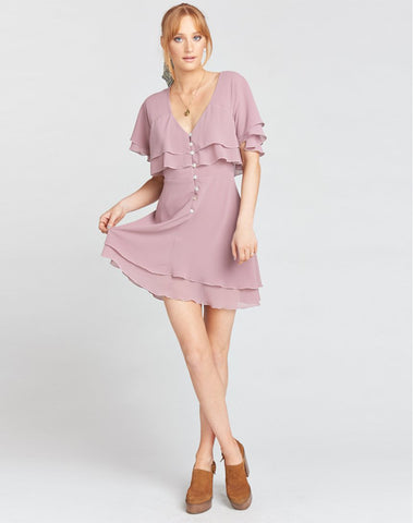 Leandra Dress ~ Antique Rose Chiffon