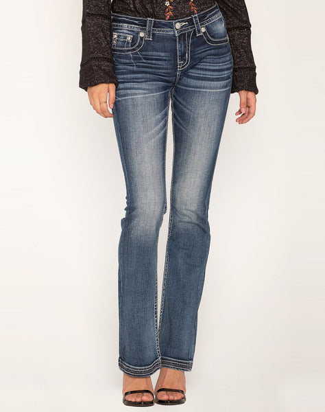 LIFE IN FEATHERS BOOTCUT JEANS