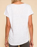 LIFE IS A PARTY LINEN TEE