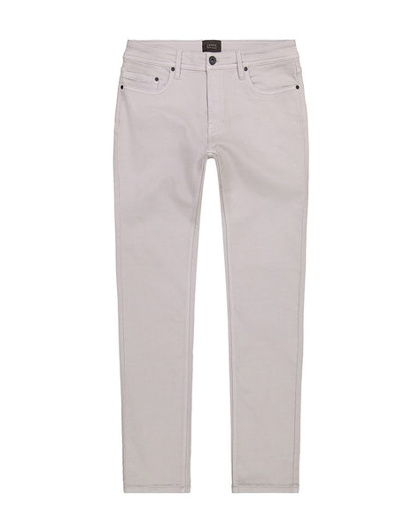 Light Grey Straight Fit Stretch Traveler Pant