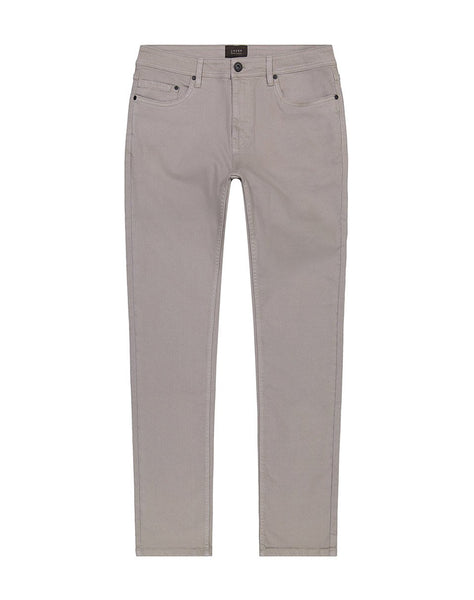 Light Grey Straight Fit Stretch Twill Pant