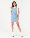 LIGHT WASH ROSIE OVERALL SKIRT