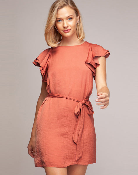 Lina Mini Ruffle Shift Dress