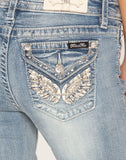 LIVING ANGEL MID RISE BOOTCUT JEANS