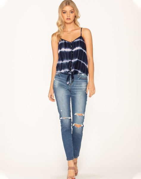 Living In Distress High-rise Skinny Jeans
