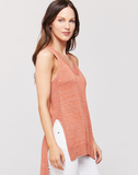 Lomalyn Coral Sleeveless V-neck Top